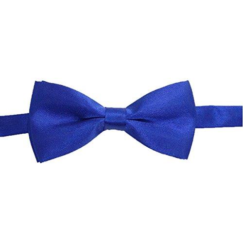 SAPEOO Enfants Classiques Couleur Unie Cravate, Bébé Joker étudiants Accessoires De Costumes Multicolores SapphireBlue