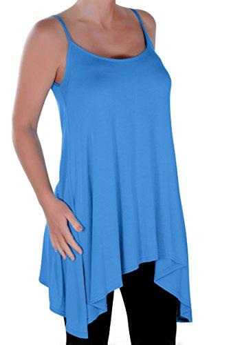 Eyecatch - Grande Taille Seattle Dames Longue Lacets Aux Femmes Asymétrique Camisole Robe Haut Turquoise