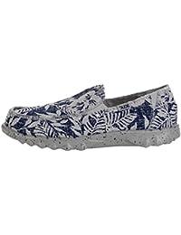 Dude Shoes resbalón de Farty Impresión Flor Marina de Guerra Hombres EN/Mula