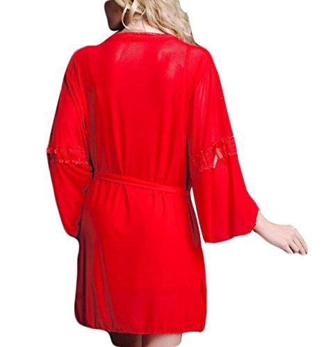 L'Europe Fille Mignonne Dentelle Sexy Pyjamas Fun red