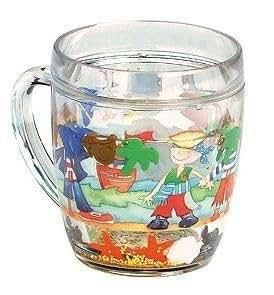 Emma Ball Boys Pirate Plastic Glitter Shaker Mug Drink Milk Cup Breakfast Gift