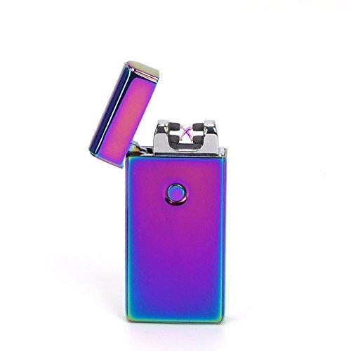 Elektronische Impuls-lichtbogen-feuerzeug (VOSO USB elektronisches Feuerzeug aufladbar lichtbogen (Bunt))