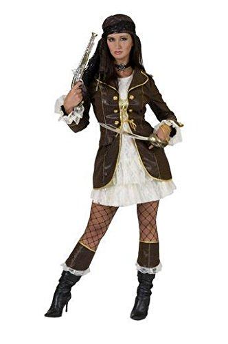 Funny Fashion 511079 - Piratin Jane 2-teilig, mit Stulpen, Größe 44-46