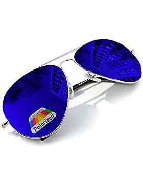 Gafas de sol espejo polarizzata para niños estilo Classic niños y niñas 100% UV400mfaz Morefaz Ltd, niña, Blue...