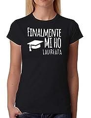 Idea Regalo - Wixsoo T-Shirt Maglietta Laurea Donna (S, Nero)