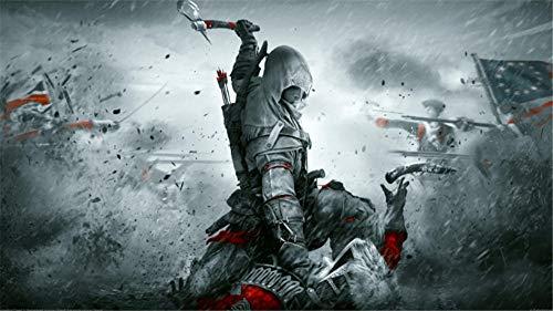 Wandaufkleber Anime Poster Assassin'S Creed Grau 60X90 Cm Wandaufkleber Gemälde Schlafzimmer Dekoration Schlafsaal