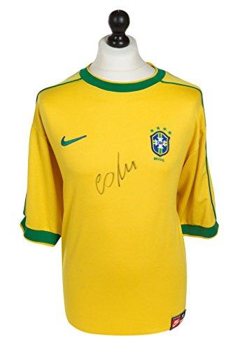Cafu-Signed-Shirt-Autograph-Brazil-1998-Brasil-Jersey-Genuine-Memorabilia-COA