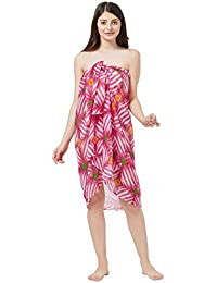 SOURBH Beachwear Wrap Sarong for Women Printed Pareo Swimsuit Body Cover Up Dress Girls