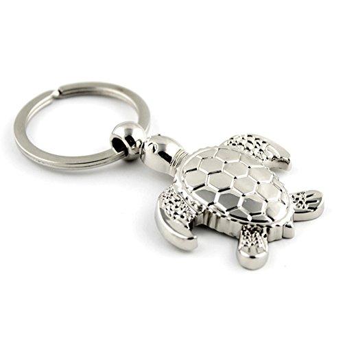 e Silber Schildkröten Schildkröte Legierung Kreativ Rucksack-Anhänger Auto Schlüsselbund Schlüsselkollektion ,1 Pcs (Schildkröte)