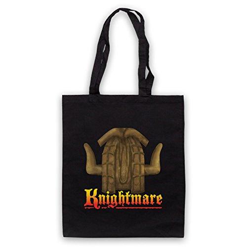 Inspiriert durch Knightmare Kids TV Logo Inoffiziell Umhangetaschen Schwarz