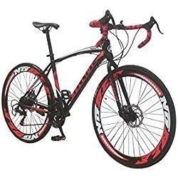 Helliot Bikes Helliot Sport 01, Unisex Volwassenen, Zwart, ML