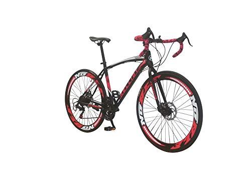 Helliot Bikes Sport 01, Bici da Strada Unisex Adult, Nero/Rosso, M-L
