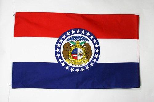 AZ FLAG Flagge Missouri 150x90cm - Bundesstaat Missouri Fahne 90 x 150 cm - flaggen Top Qualität
