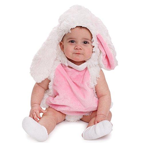 Dress Up America Säugling Plüsch Hase Rosa und weiß Cozy Rabbit Kostüm für Kleinkinder