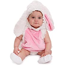 Dress up America Baby Plush Bunny Pink and white Cozy Rabbit Costume for Infants