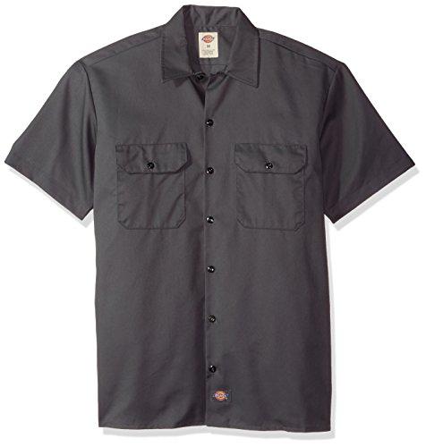 Dickies Herren Freizeithemd Work Shirt Short Sleeved, Charcoal Grey, Small (Herstellergröße: S)