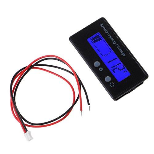Qiman 8-70 V Blau LCD Säure Blei Lithium Batterie Kapazität Anzeige Voltmeter Manometer 2in1 70 Lcd