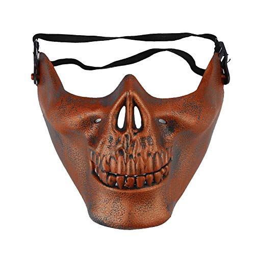 (Renbpolk Halloween Skull Skeleton Mask - Half Face Protect Mask Protective Skull Skeleton for Halloween, CS, Costume Party)