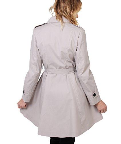 Krisp Damen Doppelreihiger ® Schotten Military Coat, Gr. 8, 10, 12, 14, 16, 18, Sandstein 3091