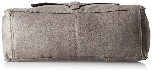 PIECES - Pcabby Leather Bag Noos, Borsette da polso Donna Grigio (Elephant Skin)