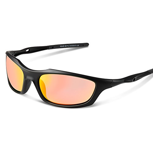 HODGSON Sports Polarised Sunglasses for Men and Women, UV400 Protection Sports Glasses for Cycling, Riding, Driving, Running, Golf and Other Outdoor Activities-Black/HH
