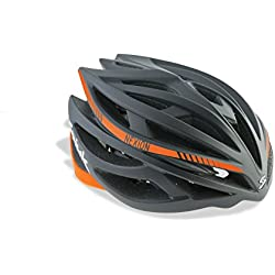 Spiuk Nexion - Casco unisex, color negro / naranja, talla 53 - 61