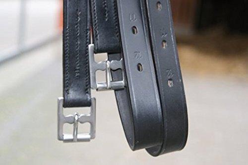 Preisvergleich Produktbild Hans Melzer Horse Equipment Steigbügelriemen,  schwarz,  160 cm