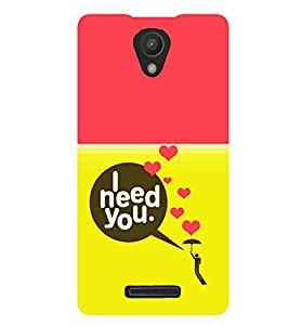 printtech Need You Quote Back Case Cover for Xiaomi Redmi 3S::Xiaomi Redmi 3::Xiaomi Redmi 3 (3rd Gen)