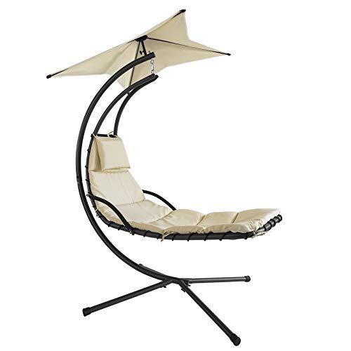 SoBuy® OGS16 Bain de soleil Hamac transat suspendu Lit suspendu Fauteuil Balancelle de jardin et patio
