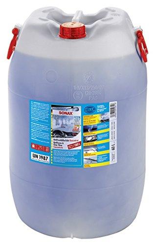 SONAX AntiFrost&KlarSicht Konzentrat (60 Liter) ergibt bis zu 180 Liter Winter-Scheibenwaschwasser, sofort mischbereit, schlierenfrei, Antikalk-Effekt | Art-Nr. 03328050