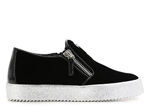 giuseppe-zanotti-design-damen-rw6005002-schwarz-samt-slip-on-sneakers