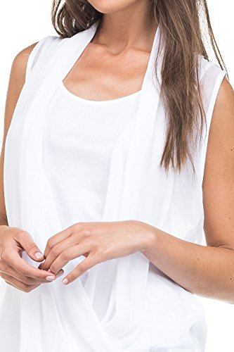 Salsa - Top 1st Level drapé en voile - Femme Blanc