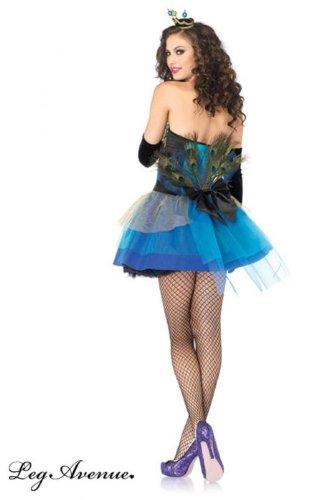 Imagen de sexy belleza azul pavo real de la mujer disfraz alternativa