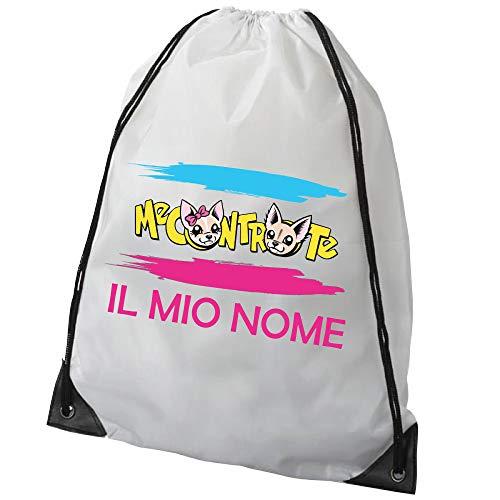 SpotApplick Borsa Zaino Sacca Sacchetto Sacco Bag Me Contro Te Scuola Youtube Bianco