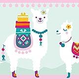 Anna Wand Bordüre Selbstklebend Amazing Alpacas - Wandbordüre Kinderzimmer/Babyzimmer mit fröhlichen Bunten Alpakas - Wandtattoo Schlafzimmer Mädchen & Junge, Wanddeko Baby/Kinder
