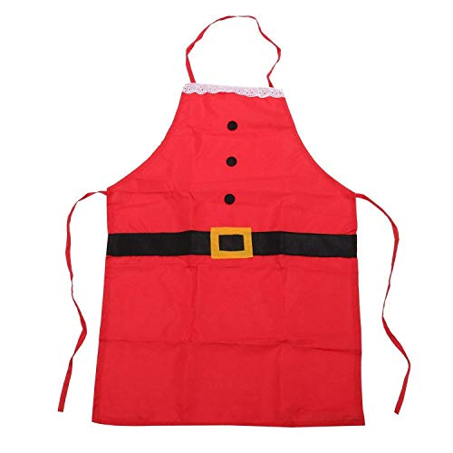Xigeapg Vater Weihnachtsmann Neuheit Schürze Santa Anzug Design Geschenk Idee Für Spa? Festliches Kostüm