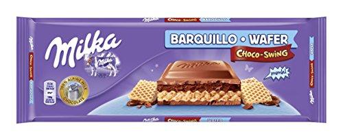 Galleta Barquillo Tableta De Chocolate Choco Swing Milka 300gr