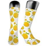 gthytjhv Smile Sweet Cute Fruit Food Soccer Socks Sport High Stockings Digital printing Comfortable For Men Women