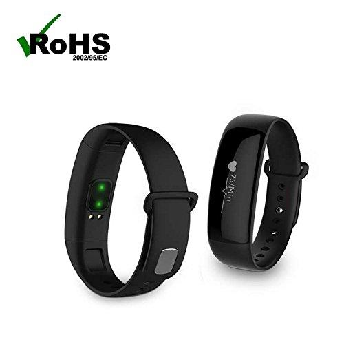 Herzfrequenzmesser Pedometer Smart Wristband Band, Bluetooth Touchscreen Sport Aktivitätstracker Schrittzähler / Kalorienzähler /Anrufe/SMS Sleep-Timer und Snooze Funktion handy uhr,Aktivitätstracker für Android und IOS