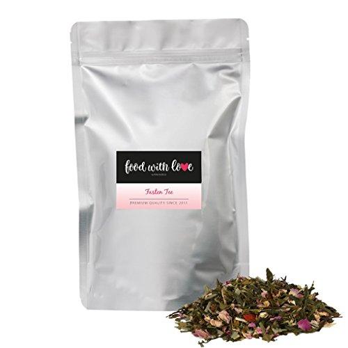 BIO Fasten Tee, Sencha Kräutertee für eine Detox Tee Kur 250g von Azafran® - ca. 125 Tassen Genuss