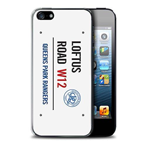 Offiziell Queens Park Rangers FC Hülle / Case für Apple iPhone SE / Weiß/Gold Muster / QPR Loftus Road Zeichen Kollektion Weiß/Blau