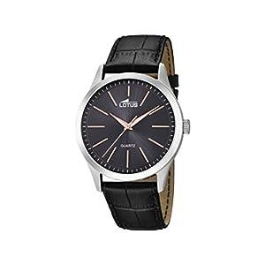 Lotus Watches Reloj Análogo clásico para Hombre de Cuarzo con Correa