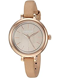 Kenneth Cole New York Women's Quartz Stainless Steel and Leather Casual Watch, Color:Beige (Model: KC50065001)