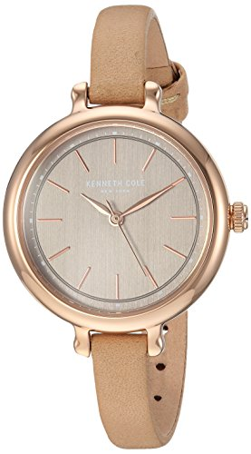 Kenneth Cole New York Womens Analog-Quartz Watch with -Leather Strap KC50065001