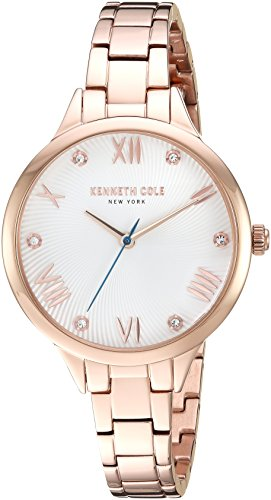 Kenneth Cole New York Women's Quartz Stainless Steel Casual Watch, Color:Rose Gold-Toned (Model: KC50197002)