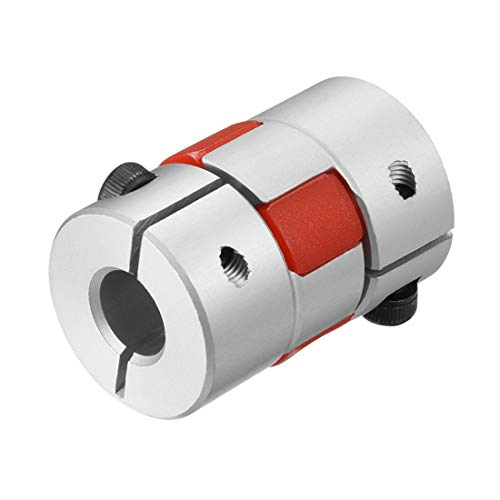 Sourcingmap Wellenkupplung 6 mm auf 8 mm Bohrung L30 x D20 Flexible Kupplung für Servo-Stufenmotor