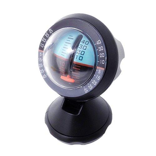 Auto Winkel Slope Level Meter Neigung Indikator Automotive Fahrzeug Neigungsmesser Tool Gradient Balancer–Upgrade und Downgrade Slopemeter Finder Werkzeug (Leder Trim-licht)