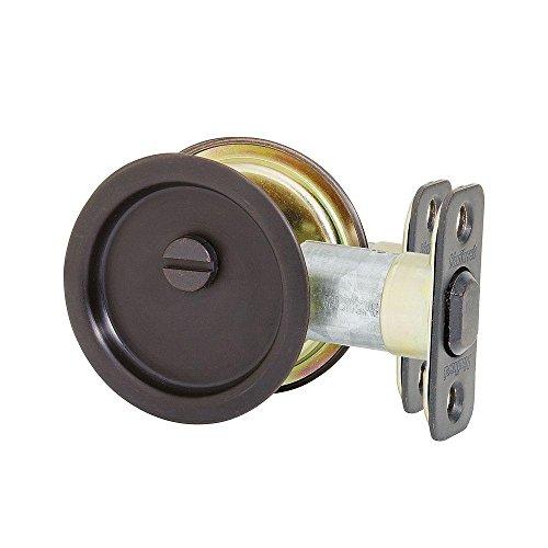 Kwikset 33410B rund Hall/Closet Pocket Tür Lock, 2.48-inch, Öl eingerieben Bronze Finish (10b Finish)