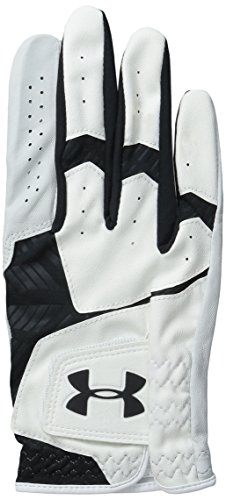 Under Armour 2016 Cabretta Leather Cool Switch Mens Golf Gloves Left Hand (Right Handed Golfer) White/Black Medium/Large