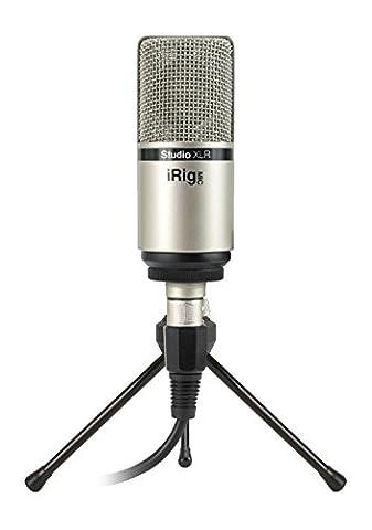 IK Multimedia IP-IRIG-MICSTDXLR-IN Mic Studio XLR Large-Diaphragm Studio Condenser Microphone